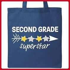 Inktastic Second Grade Superstar with arrow and stars Tote Bag Royal Blue - Totes (*Amazon Partner-Link)