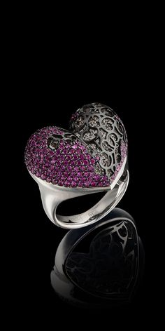 Master Exclusive Jewellery - Collection - Day and night - 18K white gold, diamonds, rubies