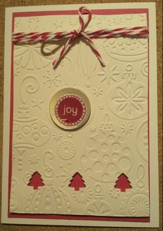 Embossed homemade Christmas card