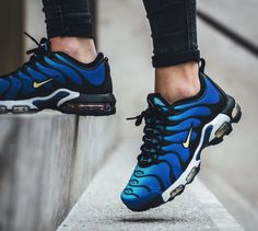 The women s Nike Air Max Plus TN Ultra is featured in a hyper blue black a492c48c2