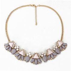CMD by Mirna - Rock Chic Forever21 Gemstone Decorated Simple statement necklace, US$ 9