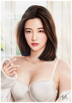 Model Korean Girls ,bra Cutie,Beautiful [[ Digital Painting ]] (V3)  Artist : FB : @JakkreeJantakad