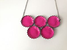 Craft a beautiful necklace From: If You Keep Your Bottle Caps, You Can Do These 20 Epic Things With Them x-Viral.com