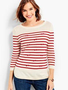 Bows & Stripes Sweater   Talbots - SB Sep 2017
