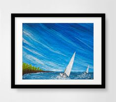 Instant digital download printable art sailboats print wind
