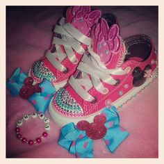 Toddler Minnie Mouse Bling Chuck Taylor by SheSparklesIt on Etsy, $65.00