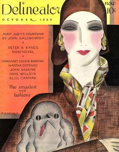 Magazine cover designed by Helen Dryden - Delineator October 1929