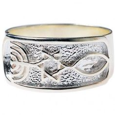 Sterling silver Messianic Seal of Jerusalem Ring