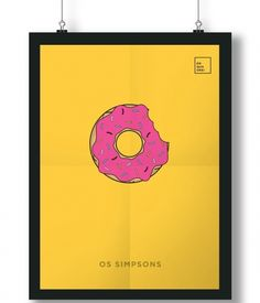 Pôster/Quadro minimalista Simpsons