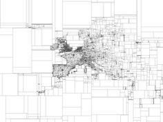 Eric Fischer maps the world in binary subdivisions. Each bounding box contains… Information Design, Information Graphics, Visualisation, Data Visualization, City Ville, Map Diagram, Visual Map, Information Visualization, Map Design