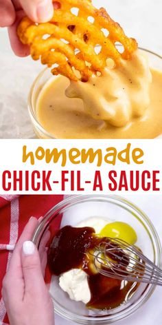 Copycat Chick Fil A Sauce Make your own chick fil a sauce at home! Only 4 ingredients that you probably already have in your pantry kitchen at home! The post Copycat Chick Fil A Sauce appeared first on Welcome! I Love Food, Good Food, Yummy Food, Tasty, Healthy Food, Healthy Recipes, Copycat Chick Fil A Sauce Recipe, Chik Fil A Sauce, Restaurant Recipes