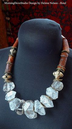 Rough cut chunky quARTz nugget tribal art