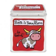 Boite à Cubes Bouillons De bœuf - rouge