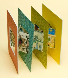 L'Shana Tovah: A Tunnel Book by Sue Abbe Kaplan. 5.75 x 4.375 in. 4 Panels. Based on a structure by Carol Barton. Inkjet printed using digital type (Bulmer) and images from various ancient manuscripts. Holiday greeting in Legenda (from the metal) printed digitally. Tunnel Books have cutouts in the middle of pages, allowing the reader to see through the book from one page to the next. 5769 [2008]