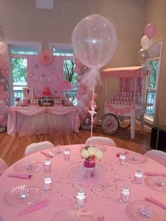 Ideas For Baby Shower Nena Bailarina Baby Shower Cakes, Baby Girl Shower Themes, Girl Baby Shower Decorations, Baby Shower Balloons, Baby Shower Fun, Baby Shower Favors, Shower Party, Baby Shower Parties, Tulle Balloons