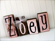 Custom Name Blocks to match your decor... GIRL by doubledutydecor, $4.00