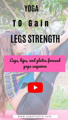 Yoga video for strong and beautiful legs, glutes and hips. Weight Loss Meals, Healthy Dinner Recipes For Weight Loss, Yoga For Legs, Yoga For Back Pain, Yoga Poses For Beginners, Workout For Beginners, Yoga Videos, Workout Videos, Yoga Fitness
