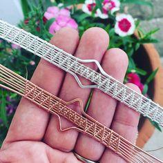 Wire weaving woman ❤️ Two new bracelets in the works! Setting stones next ☺️ stay tuned #wireweaving #etsyartist #sterlingsilverjewelry #copperjewelry #pyramids #wirewrap #wirewrappedjewelry #bracelets #wrapsofig #jewelrygram #jewelry #intheworks #wip #workinprogress #makeart #jewelryjunkie #geometric