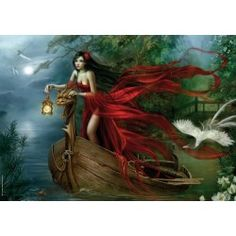 Gothic and Fantasy Puzzles from Puzzle Warehouse for those that have a penchant for the darker arts or romantic creatures of the night. Featuring art by Victoria Frances, Luis Royo, Cris Ortega and Anne Stokes. Gothic Artwork, Fantasy Artwork, Tour Eiffel, Swans, Cris Ortega, Have A Nice Afternoon, Chateau Disney, 3d Fantasy, Fairies