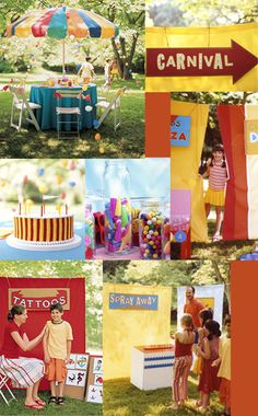 Martha Stewart - carnival party So clever. can't wait to this with my kids!
