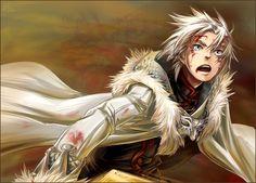 Anime, white hair, silver eyes