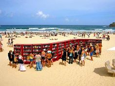 Beach library --lots of space for this interesting idea- Popup Republic
