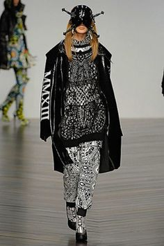 KTZ Fall/Winter 2013 #ktz #lfw #gothic #churchprint