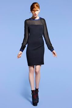 Navy knitted dress by Kami organic collection Blue Dresses, Dresses For Work, Ethical Fashion, Fashion Fashion, Sustainable Fashion, Knit Dress, High Neck Dress, Organic, Collection