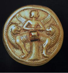 Gold Bactrian compartment seal.