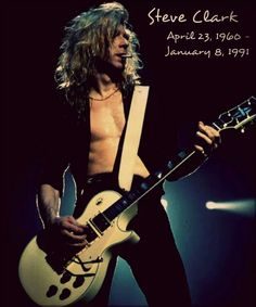 """Steve Clark, may not be here physically, but still with Def Leppard in spirit. As much as people want him back, he would have been very proud of what Vivian Campbell has done in his place. According to Joe Elliot, he successfully auditioned for the band by playing Lynyrd Skynyrd's """"Free Bird"""" in its entirety."""