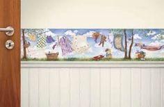 laundry room wallpaper border