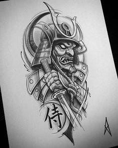 Tattoos - blackandwhite,blackandgrey-Not available bwmentality blackandwhite blackandgrey artof_black artof_black blackworkerssubmission blackw Samurai Tattoo Sleeve, Samurai Warrior Tattoo, Warrior Tattoos, Demon Tattoo, Tiger Tattoo, Cat Tattoo, Tattoo Ink, Japanese Tattoo Designs, Japanese Tattoo Art