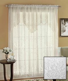 Lace Curtain with Attached Valance | ABC Distributing