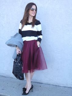 My Fancy Pants...Stripes and Tulle