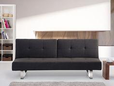 Rozkładana sofa ruchome oparcie - DUBLIN ciemny szary