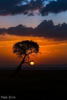 Sunset at Masai