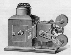Cinematograph (Alfred Wrench) - Wrench cinematograph projector, 1898 model. The Wrench featured an unusual rachet and pawl mechanism, and could also show lantern slides