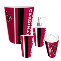 Arizona Cardinals NFL Complete Bathroom Accessories 4pc Set