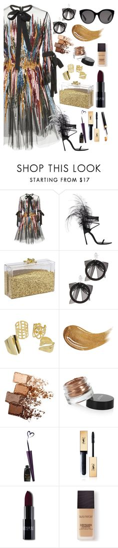 """""""1,508 FOLLOWERS!!"""" by galaxy-girl-at-twilight ❤ liked on Polyvore featuring Elie Saab, Yves Saint Laurent, Fallon, Too Faced Cosmetics, Maybelline, Inglot, Laura Mercier and Gucci"""
