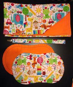 Alphabet Animals Flannel Blanket Set on Etsy, $23.00