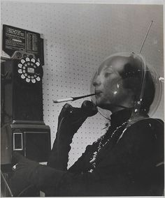 See if you can put a dime in, talk on the phone, smoke from a cigarette with your long gloves on all while wearing your antenna bubble.