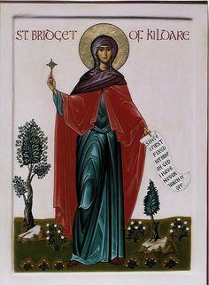 St Brigid of Ireland | http://saintnook.com/saints/brigidofireland/