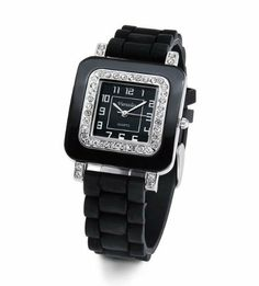Ladies Square Black White CZ Stone Quartz Wrist Watch Versales. $14.99. Save 85%!