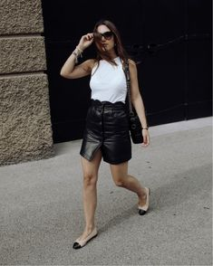 Shop Your Screenshots™ with LIKEtoKNOW.it, a shopping discovery app that allows you to instantly shop your favorite influencer pics across social media and the mobile web. Last Day Of Summer, Skirt Outfits, Leather Skirt, Summer Outfits, Style Inspiration, Tank Tops, My Style, Skirts, Shopping