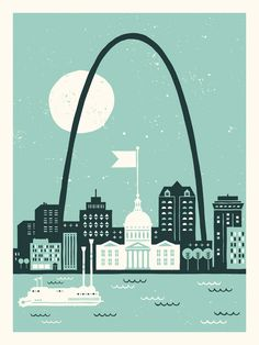 St. Louis #illustration #2color