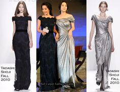 Li Bingbing & Fan Bingbing both attended the Shanghai Bazaar Charity Gala 2010 in China. The Asian actresses presented together at this event wearing the same designer.Tadashi                                                                                                                                                                                                                                                                                                                                  ...