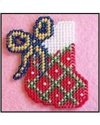 Free Easter Plastic Canvas Patterns | Everything Plastic Canvas - Christmas Stocking