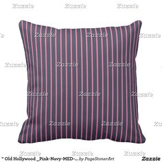""""""" Old Hollywood _Pink-Navy-MED-Pillow"""