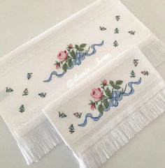 Cross Stitch, Embroidery, Handmade, Crafts, Face Towel, Embroidered Towels, Towels, Flowers, Punto De Cruz