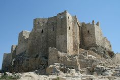The actual Masyaf Castle in Syria, home of Rashid ad-Din Sinan, leader of the Assassins.
